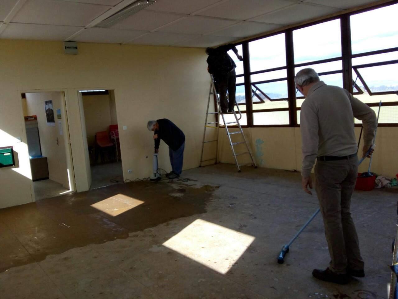 Nettoyage intérieur du Club House